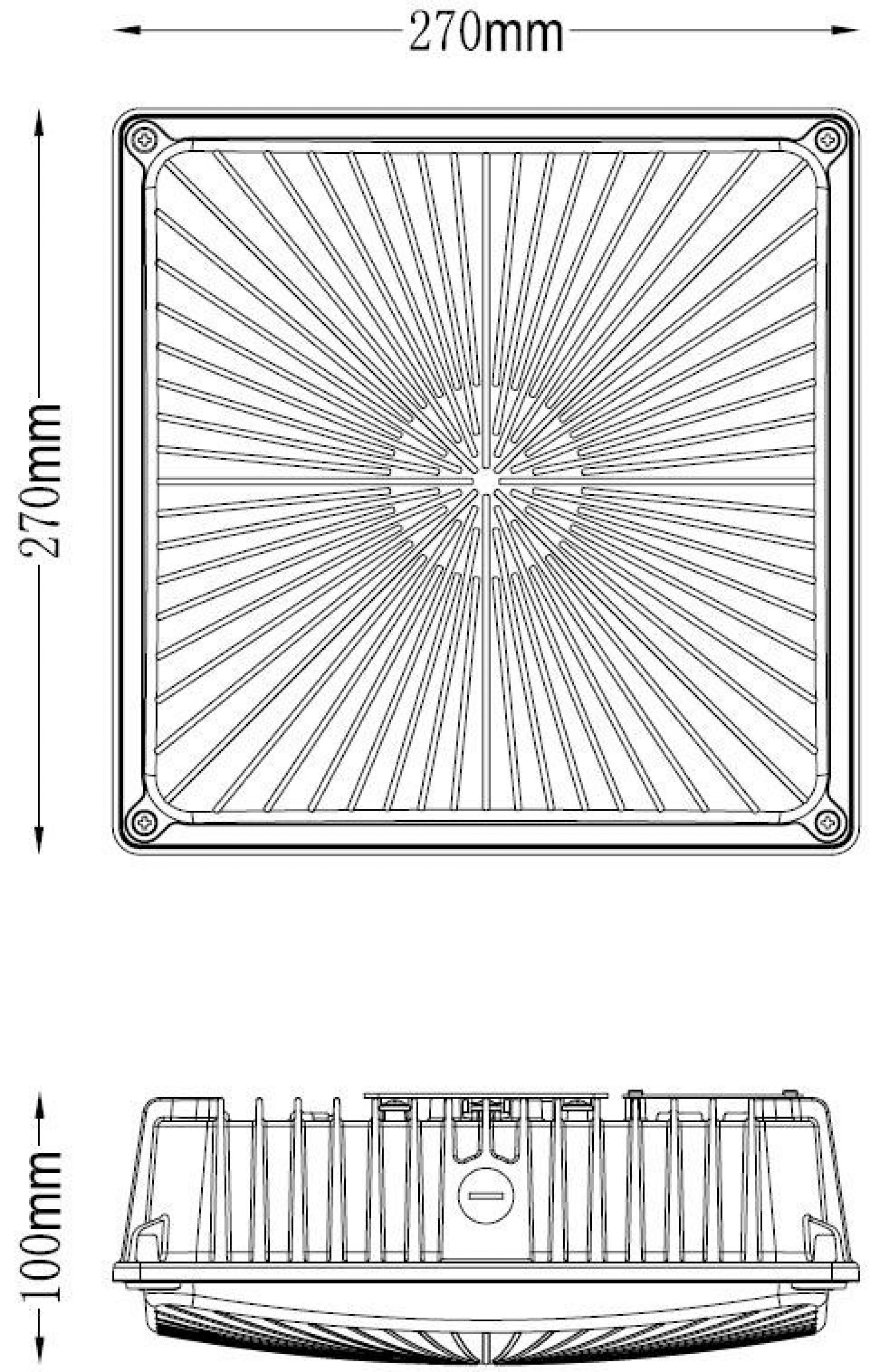 Canopy Ceiling Fixture 100W